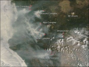 Satellite Images of the Californai Wildfires