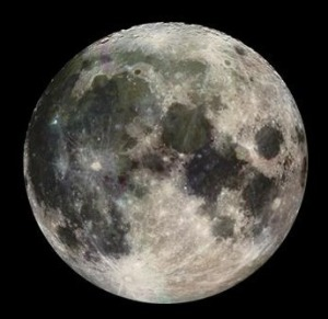 An image of the Earth's moon