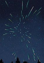 photo of a meteor shower