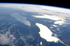 Great Lakes in sunglint