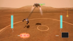 Screenshot from the new NASA Kinect Game - Mars Rover Landing